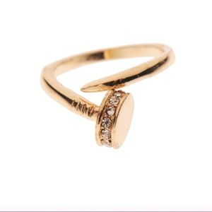 Gold Wrap Around Nail Ring
